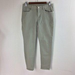 T140 Michael Kors Green Khaki Jeans Size 6